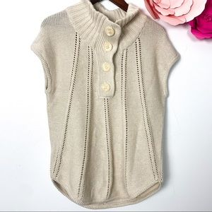 BCBG beige knit sweater size M cotton wool
